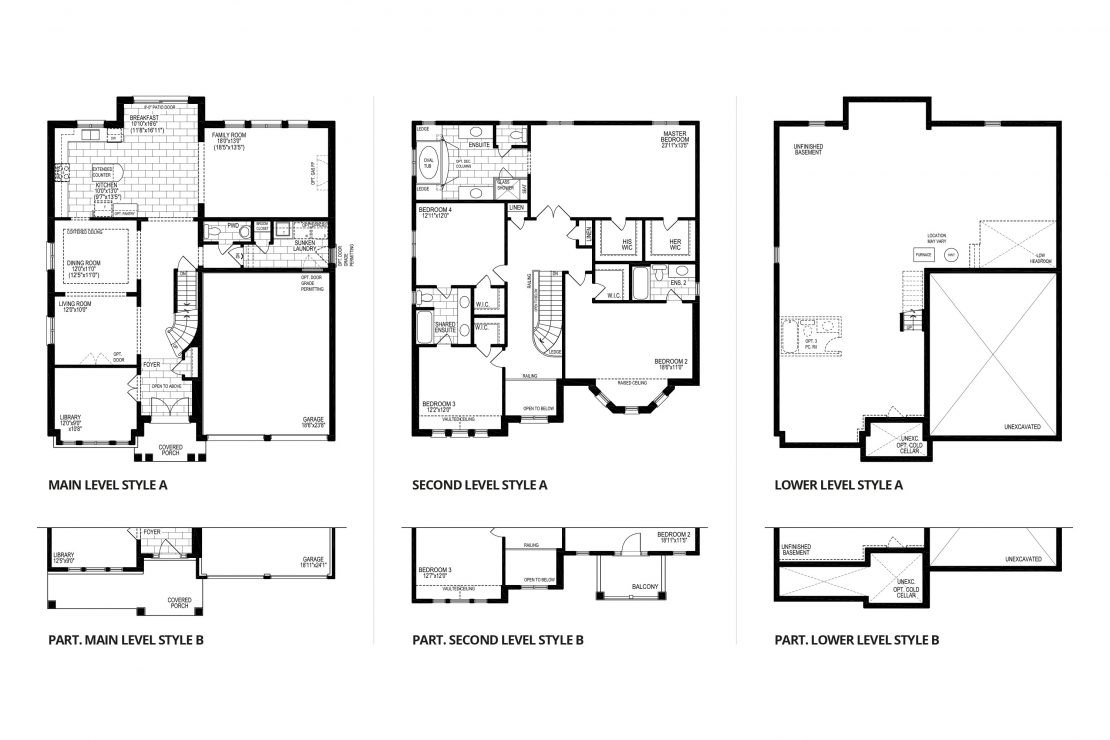 The Champagne, Style A  -  Floor Plan