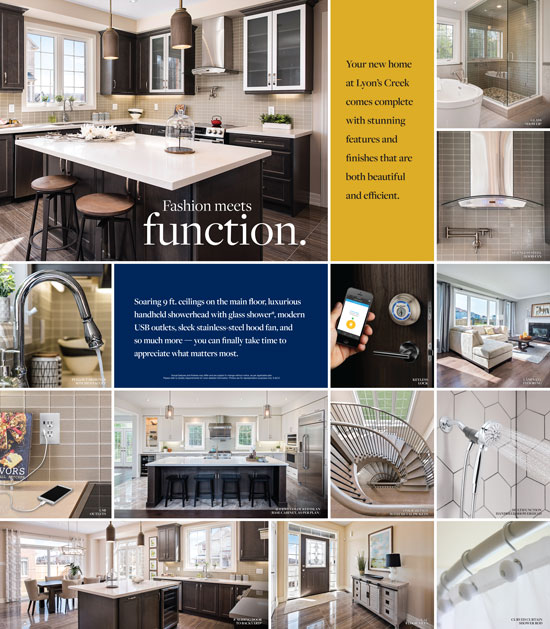 Lyon's Creek New Home Features Brochure