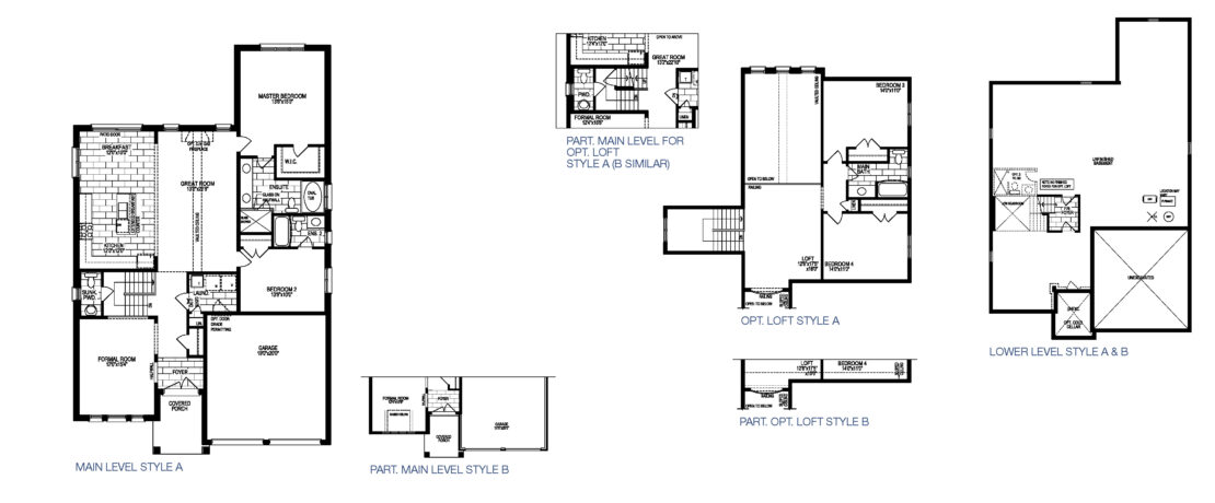 The Beaujolais with Loft - Floor Plan