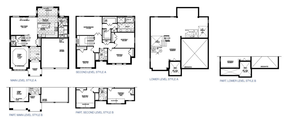 The Burgundy  -  Floor Plan