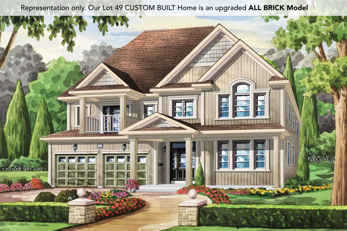 The Champagne, Style B (9421 Tallgrass Ave)  -  Style B (All Brick)  /  3125 sq.ft.